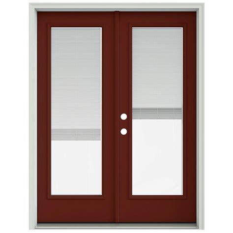 60 Patio Door Jeld Wen 60 In X 80 In Mesa Prehung Right Inswing Patio Door With Brickmould