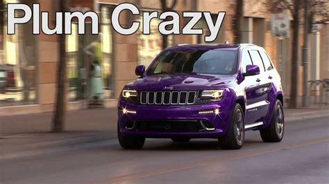 purple jeep cherokee 2014 jeep grand cherokee srt in plum crazy youtube