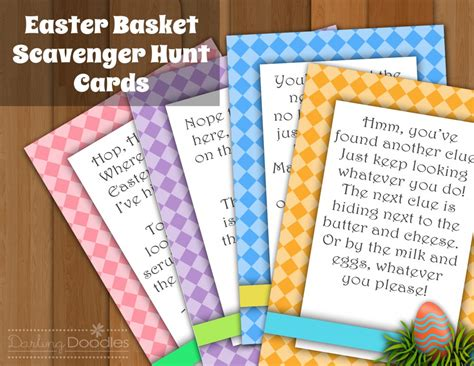 easter scavenger hunt painless meals easter basket and gift ideas