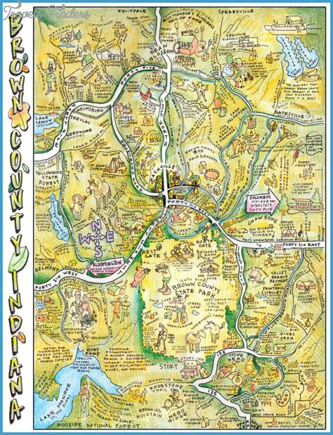 attractions in map indiana map tourist attractions travelsfinders