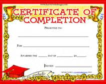 printable certificate of completion awards certificates