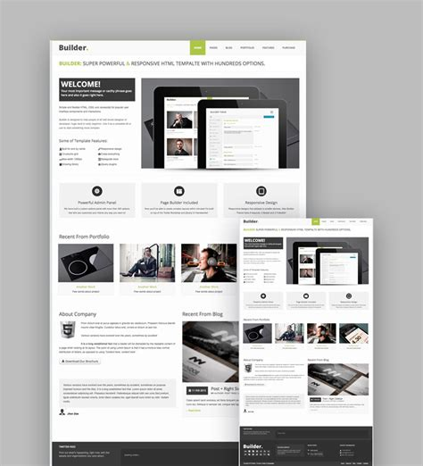 responsive templates html5 20 best responsive html5 website design business templates