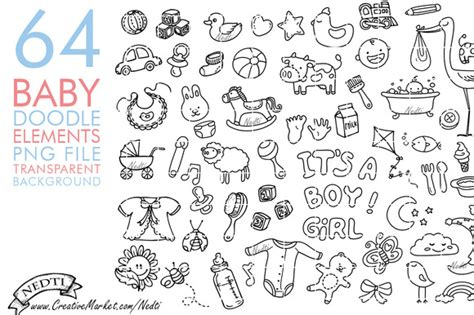 baby doodle font free baby doodle clip png illustrations on