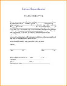 letter of guardianship appendix a sle letter of notice