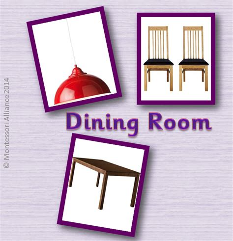 Things In A Dining Room by Culture Miscellaneous 171 Montessori Alliance