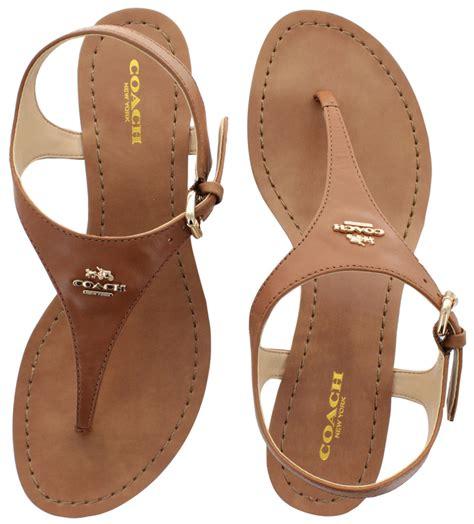 thongs sandals coach vitalia s wedge sandals calf leather