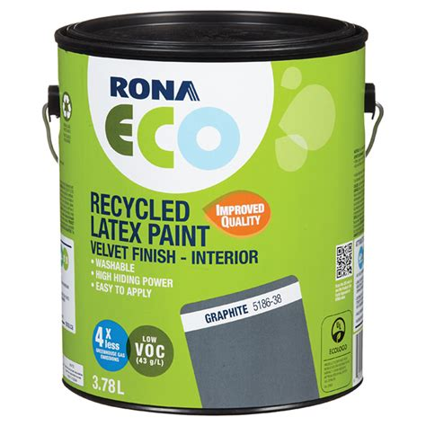recycled paint velvet finish graphite 3 78 l rona