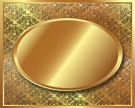 The Oval by Golden Background Clip Art Library