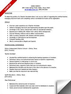 Teacher Assistant Resume Sample – Unforgettable Assistant Teacher Resume Examples to Stand