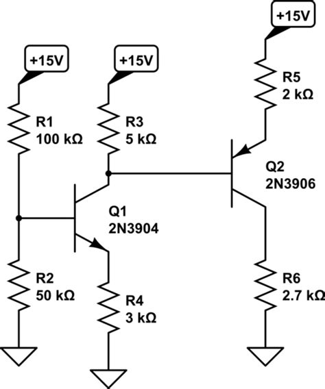 a pnp transistor is connected in a circuit so that the collector base junction remains transistors bjt input connected to another bjt s output and loading effects electrical