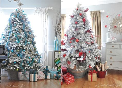 Livingroom Windows flocked christmas trees inspired by fashion s best the