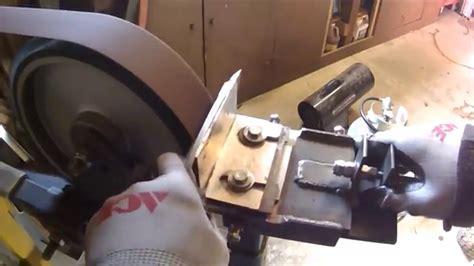 hollow grind   knife hollow bevel grind jig