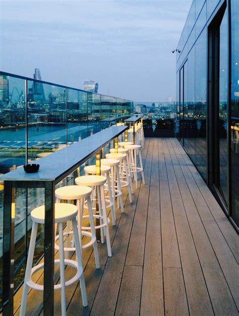 roof top bar london london s new designer mondrian hotel residence interior