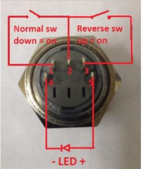 switches 5 pin push button switch with led ac wiring