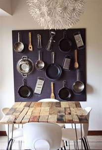 Hanging Pans On Kitchen Wall 6 Simple Hanging Storage Solutions In The Kitchen Bonito