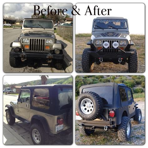 badass lifted jeep wrangler 89 jeep yj before after jeeps pinterest jeeps