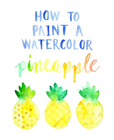 how to paint a watercolor pineapple crafts