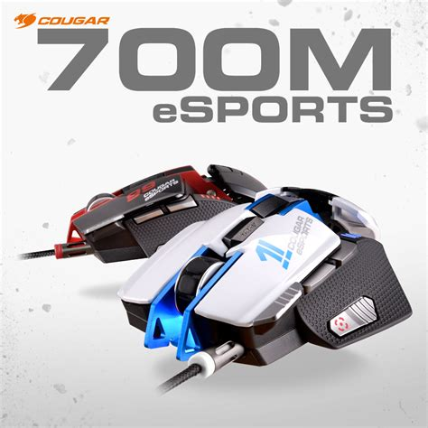 700m Esports Edition Aluminum Laser Gaming Mouse White 700m esports gaming mouse pe overclockers uk