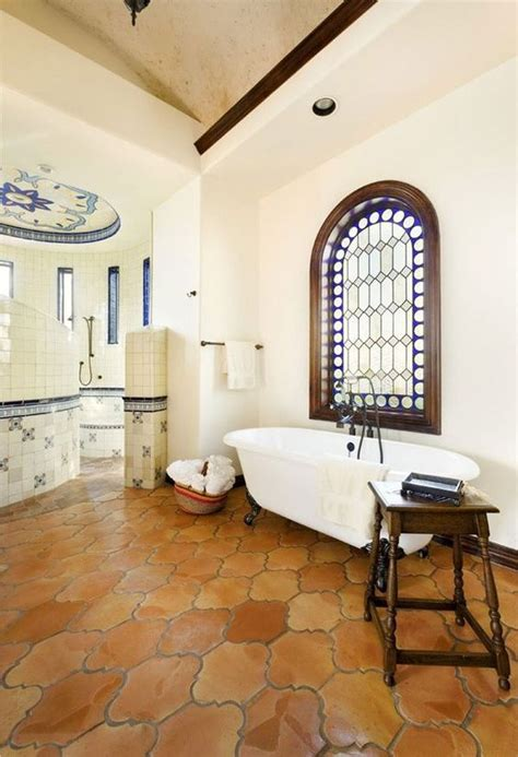 Mexican Tile Bathroom Ideas Mexican Decor Saltillo Tiles In A Lovely Bathroom Bathroom Design Ideas Tile Design Floors