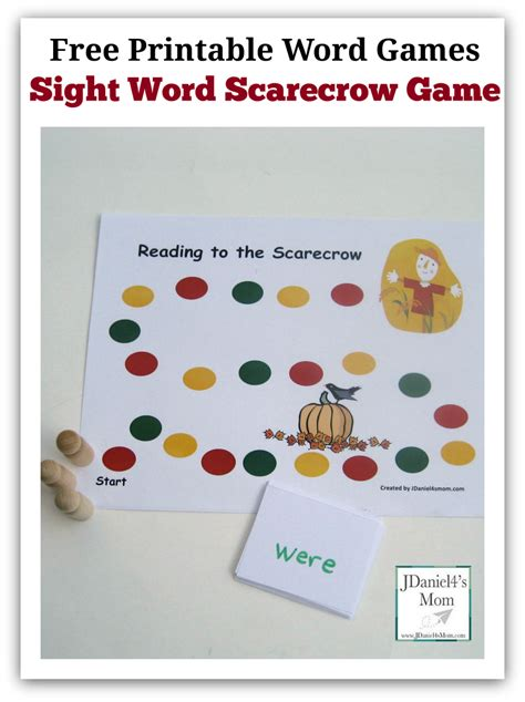 printable free word games scarecrow activities for kids