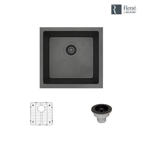 white single basin kitchen sink mr direct undermount composite 22 in single basin kitchen
