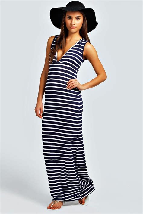 Striped Maxi Dress harriet plunge striped jersey maxi dress at boohoo