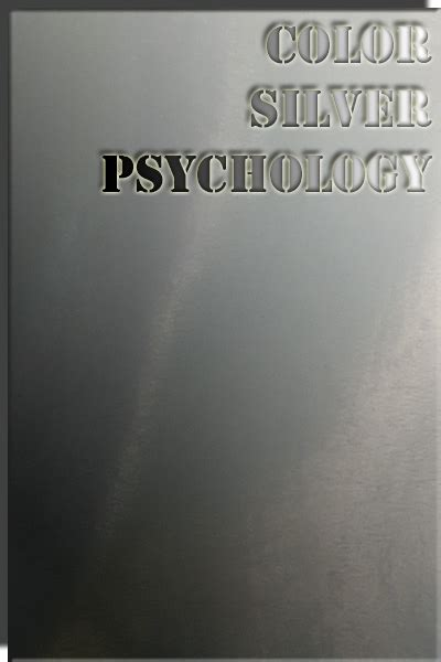 silver color meaning color silver color psychology personality meaning