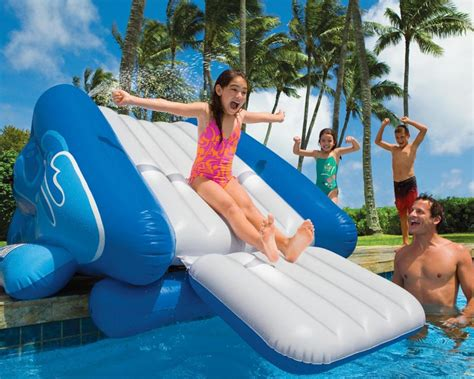 water slide bounce house inflatable water slide intex kool splash blow up pool slide