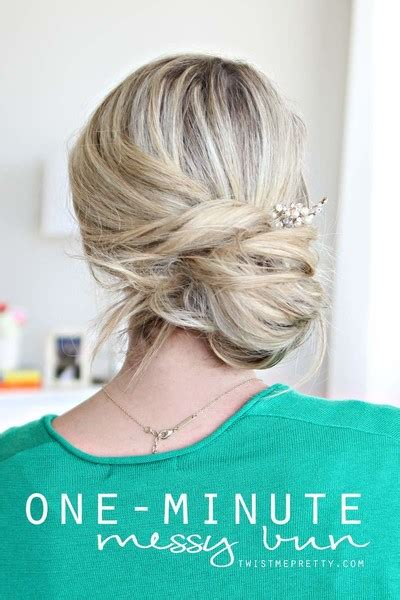 easiest messy side bun youtube 17 easy hairstyles anyone can pull off