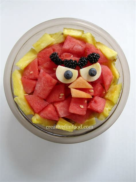 cuisine inventive creative food angry birds birthday ideas