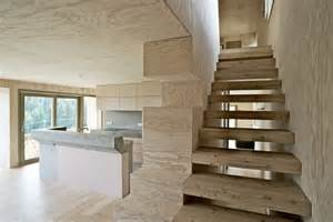 Plywood Stairs Design Chalet Lanel Cordon