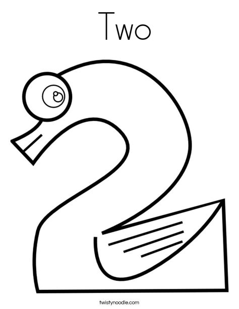 Coloring Page Number Two | two coloring page twisty noodle