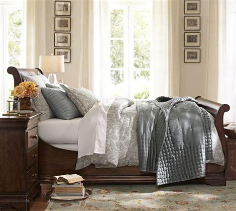 sleigh bed slipcover jefferson sleigh bed pottery barn