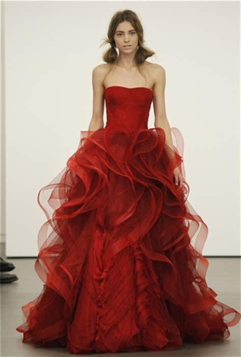 Rotes Hochzeitskleid by I Wedding Dress Vera Wang Bridal 2013