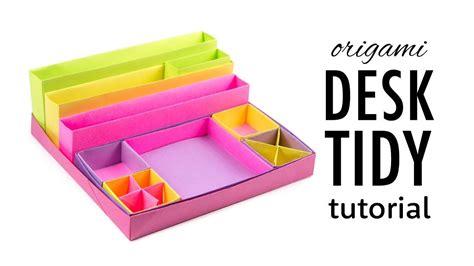 Origami Desk Organizer - origami desk organizer boxes tutorial diy paper
