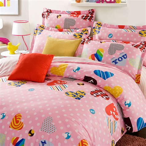 White Cotton Bedding Sets Chic White And Pink Cotton Bedding Set Ebeddingsets
