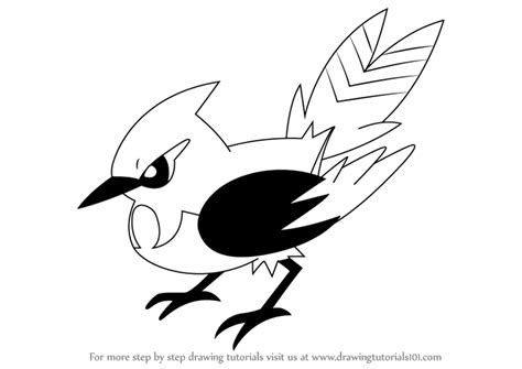 learn how to draw fletchinder from pokemon pokemon step