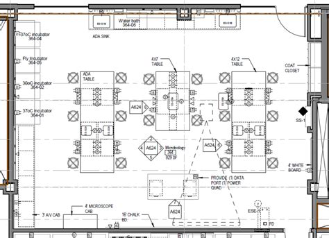 layout plan of laboratory microbiology teaching lab