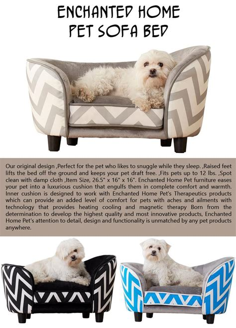 enchanted home pet bed modern sofa gray 165 now featured