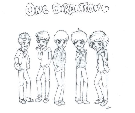 coloring pages free one direction one direction by strawberriecandie on deviantart