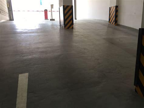 car park epoxy floor painting works at qatar development