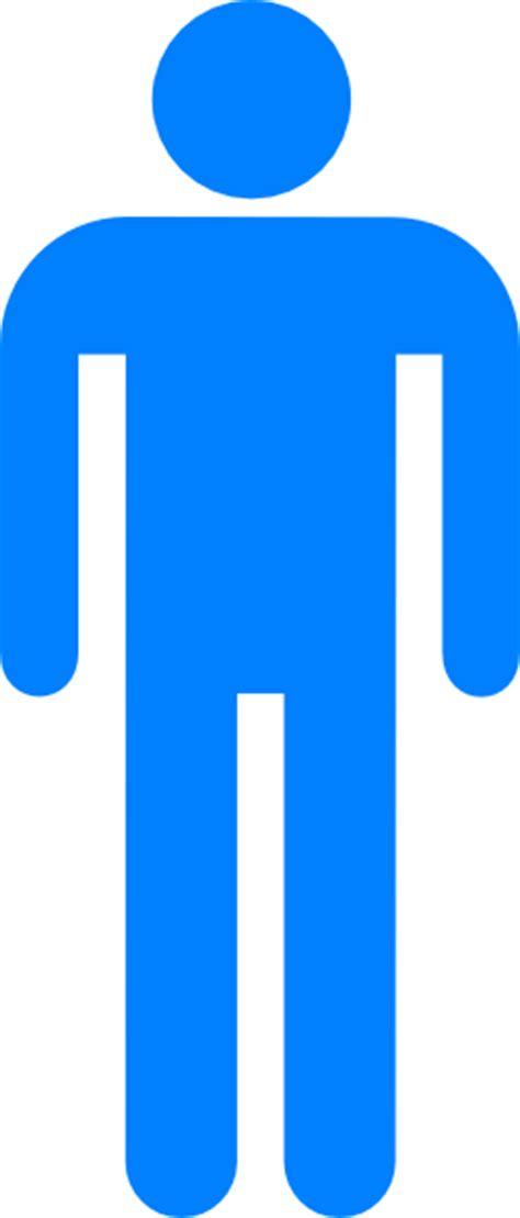 male bathroom symbol blue restroom man 2 clip art at clker com vector clip