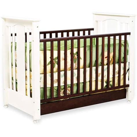 Two Tone Baby Crib Two Tone Baby Cribs Babyletto Hudson 3 In 1 Convertible Crib In Two Tone Espresso White