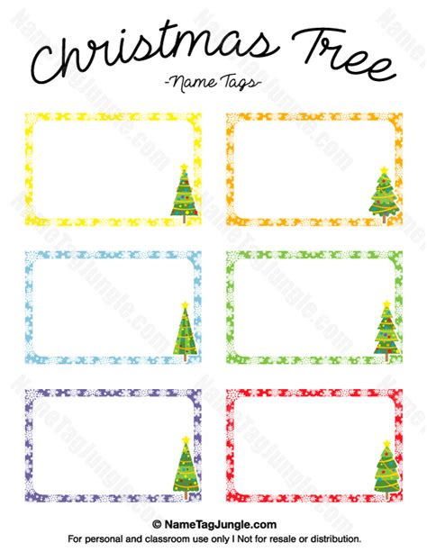 tree place card template tree name tags