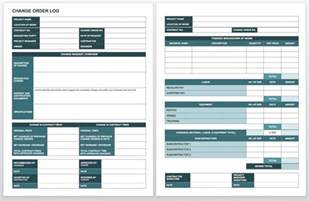 Change Log Template by Complete Collection Of Free Change Order Forms Smartsheet