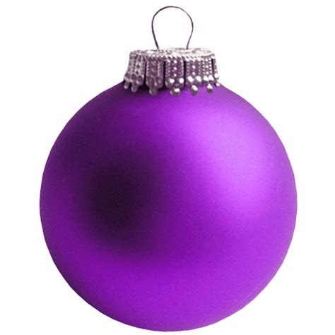 purple christmas bauble transparent background