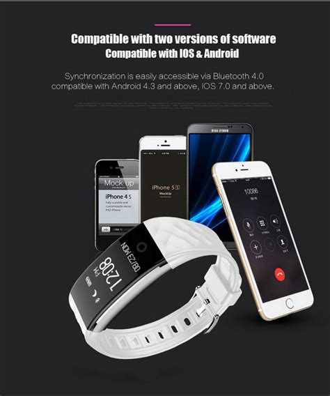 S2 Smart Band new s2 bluetooth smart band waterproof touch screen