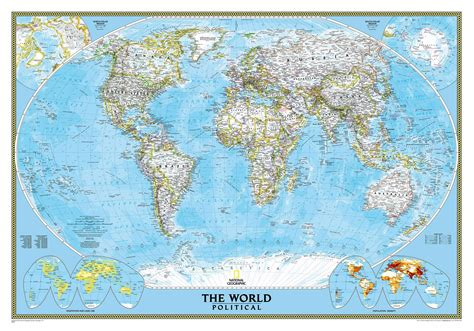 geographic map of national geographic world map wall mural