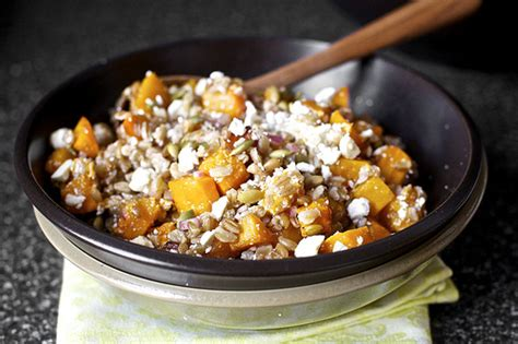 butternut squash salad with farro and pepitas food2fork