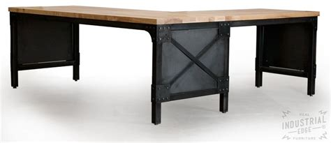 steel l shaped desk crafted modern l shaped ash top and steel desk wood